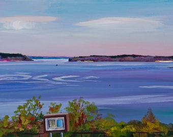 Maine Landscape Plein Air Painting Portland, Eastern Prom