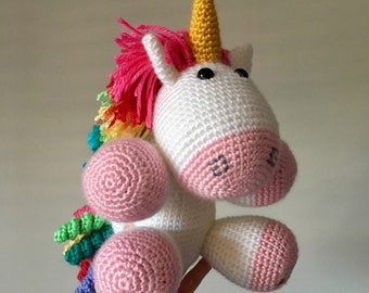 Fluffy Pink Rainbow Unicorn