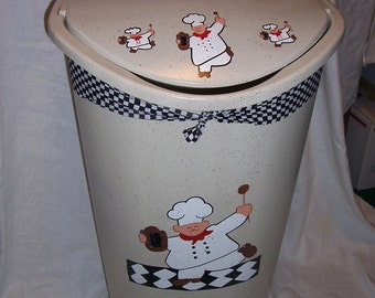 Fat chef Kitchen trash/garbage can