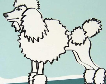 Sculptural - a Poodle in the Dog Series Art Print