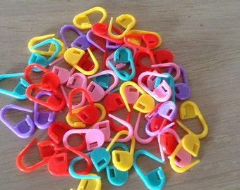 Steekmarkeerder 50 stks -plastic steekmarkeerder - haken en breien - Stitchmarkers 50 pcs- bright colours - knit&crochet
