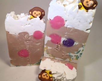 Monkey Farts-Cold Process-Soap-Fun-Fruity-Handmade-Artisan-Natural-Vegan-Unisex-Gift-Soap-Abbotsford-BC-Canada