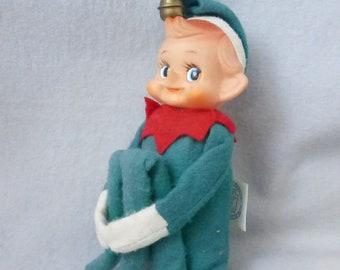 Vintage Mid Century Knee Hugger Shelf Elf Ornament  HE131