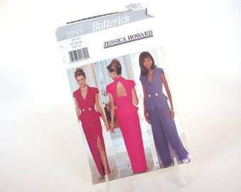 Vintage Two Piece Formal with Palazzo Pants Sewing Pattern Butterick 3945, Size 12, 14, 16, Bust 34, 36, 38 Inches