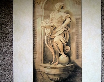 Agostino Mutelli's Design for a Fountain, 1638 Print or Poster