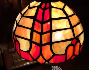 Art Nouveau stained glass lamp