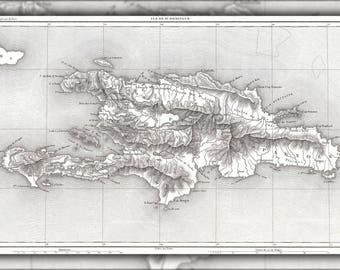 Poster, Many Sizes Available; 1859 Dufour Map Of Hispaniola Or Santo Domingo, West Indies (Haiti, Dominican Republic)  In French