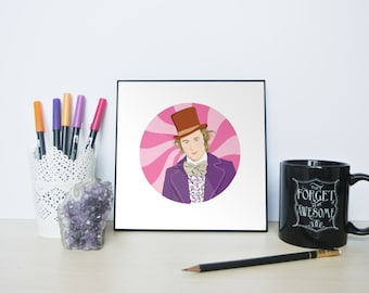 Willy Wonka Portrait, Willy Wonka, Pure Imagination, Willy Wonka and the Chocolate Factory, Wonka, Tribute to Gene Wilder