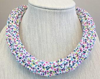 Polka Dot Necklace - chunky necklace, statement necklace, art necklace, abstract necklace, funky necklace, upcycled necklace, bold necklace