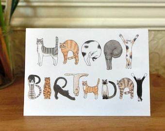Cats Birthday Card
