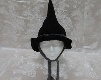 Crochet Wizard Hat, Halloween Costume Hat, Handmade Witch Hat,