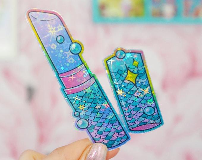 Mermaid Lipstick Holographic Sticker