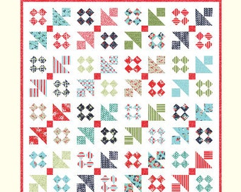 SALE - High Tide quilt pattern from Cotton Way - fat quarter friendly