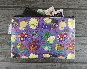 Majora's Mask Cute Zelda Patterned Nintendo New 2DS XL / 3DS XL / PS Vita / Kindle Zip Case - also for tablets, pencils, tools & makeup