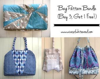 Bag PDF Sewing Pattern Bundle (Buy 3, Get 1 FREE!)