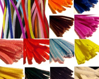 50 x Craft pipe cleaners chenille stems sticks 30cm in length for Needle felting figures