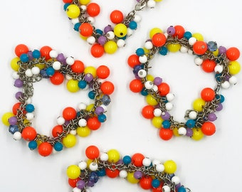 "7"" multicolor beaded bracelet w/ 2"" extender"