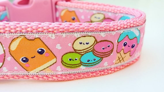 Sweetie Pie -  Dog Collar / Handmade / Adjustable / Pet Accessories / Pet Lover / Gift Idea /