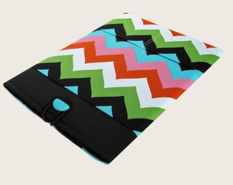 Macbook Air Sleeve, Macbook Air Cover, 13 inch Macbook Air Cover, 13 inch Macbook Air Case, Laptop Sleeve, Colorful Chevron