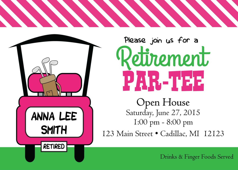 Women\'s Golf Retirement Invitation Fun Golf Theme