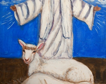 Baby, Lamb, Savior / Painting