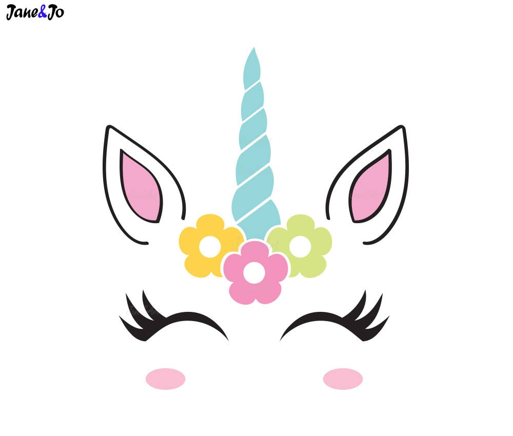 unicorn svg unicorn face svg unicorn head svg unicorn clipart vector dxf jpg png silhouette cut
