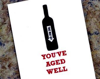Wine Funny Birthday Card