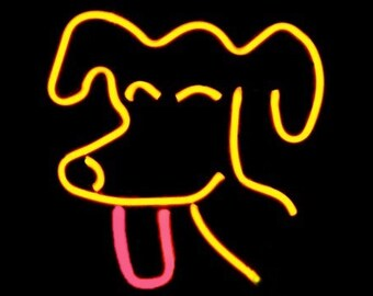 Pooch Freestanding Neon Art Dog Sign Light Sculpture (or your dog!!!)