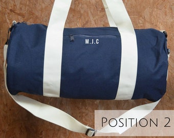 Personalised Gym Bag - Best Yoga Gifts  - Yoga Bags for Men - Monogrammed Bag - Yoga bags for men- Embroidered Bag - Gifts for Him