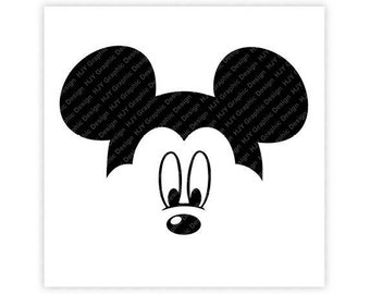 Disney, Mickey Mouse, Face, Icon Minnie Mouse Head, Mouse Ears, Digital, Download, TShirt, Cut File, SVG, Iron on, Transfer