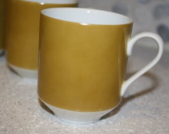 Mikasa antique gold mugs set of 4 NO. 5758