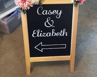 Custom Wedding Road Sign