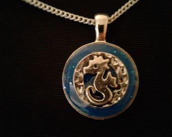 Adorable Glowing Seahorse Necklace