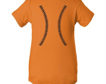 Baseball Team Colors Creeper - Mandarin Orange/Black