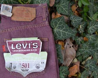 Levi's 501 - VNTG Levi's Bordeaux Jeans W29 L36