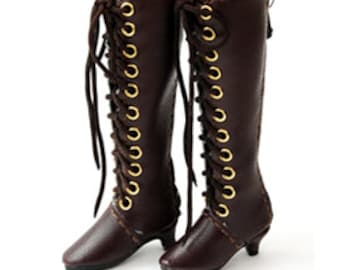 Laceup-heel Boots 30mm(3 color)/Brown