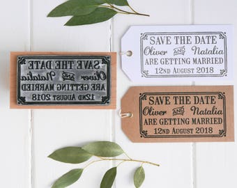 Save The Date Stamp With Border