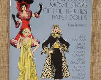 Glamourous Movie Stars of the Thirties Paper Doll Book by Tom Tierney