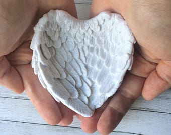 Angel Wings | Remembrance Gift | Angel Wings Trinket Dish | In Memory of Gift | Baby Loss Gift | Baby Memorial Gift | Condolence Gifts