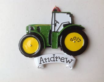 33 Off John Deere Personalized Green Tractor Baby Boys First Christmas Ornament Newborn