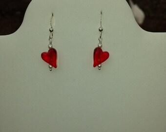 Red Heart short Dangle Valentine Earring
