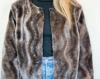 Faux Fur Cropped Coat