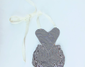 Baby Romper, baby girl clothes, Baby playsuit, Photography prop, Baby Bodysuit, Vintage Boho romper, Birthday outfit, babyshower gift