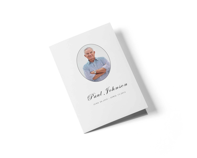 Beerdigung Programm Broschüre Vorlage für Word Memorial Wort