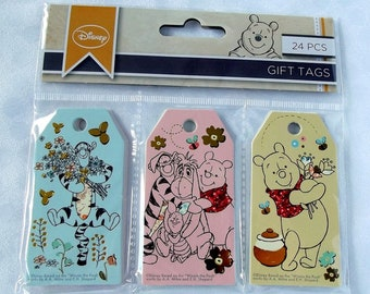 Tag Disney embellishment for scrapbooking, card making, crafting - Winnie the Pooh