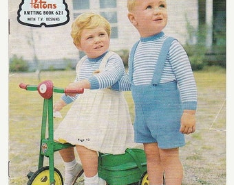 ON SALE On Sale - Paton's Knitting Pattern No 621  For Babies and Toddlers Aged up to 3 years (Vintage 1960s)