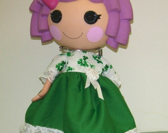 """St. Patrick's Day dress for 13"""" LaLaLoopsy Dolls."""