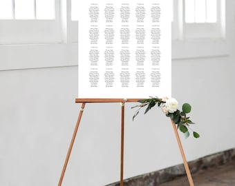 LIMITED TIME! - Editable Template - Instant Download Soft Calligraphy Guest Seating Chart in 5 sizes and table variations seat001_3