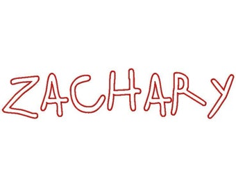 Zachary Machine Applique Embroidery Fonts  1803