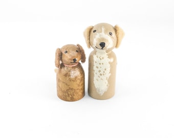 ADD ON 2 Dog miniatures - Add 2 Dogs to your Custom Topper - dog lovers cake topper - dog wedding